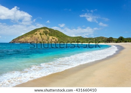 Long Kuta sand beach, Lombok, Indonesia