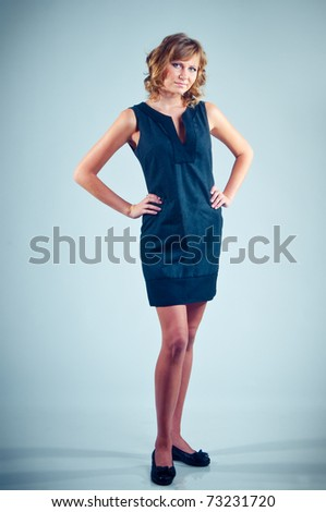 Long-legged model - stock photo
