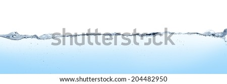 Long line water surface and turbulence - stock photo