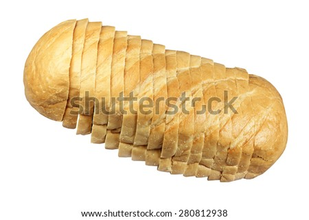 Long loaf of white loaf - stock photo