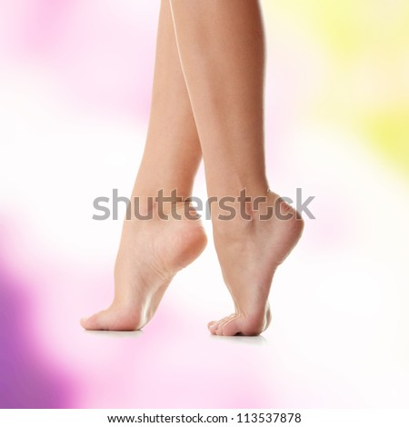 Long pretty woman legs - stock photo