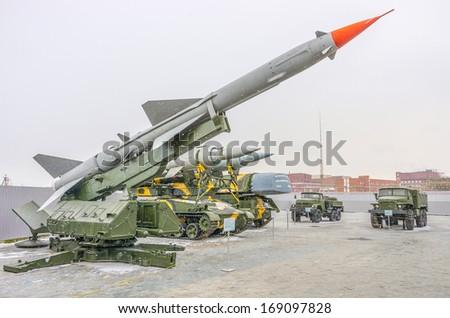 Long range missile rocket - stock photo