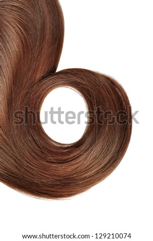 long red hair style  isolated on white background