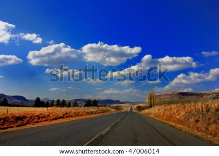 Long road home, Clarens, Free state, south Africa