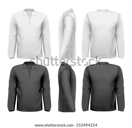 Long sleeved shirts with sample text space.  - stock photo