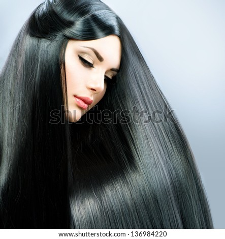 Amusing phrase Beautiful girl with black hair everything