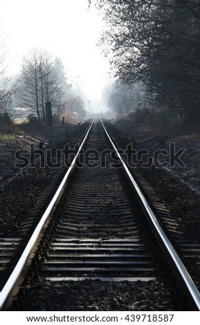 long straight railroads going to the horizon