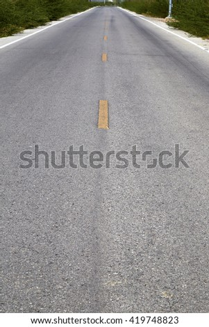 Long straight road,