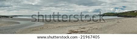 long strand panorama, ireland - stock photo