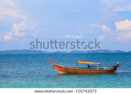 Long tail boat , Lipe , Thailand