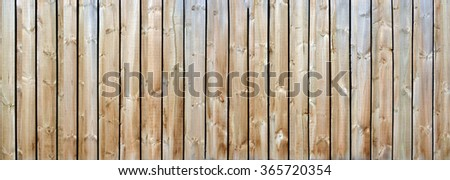 Long wood fence background panorama with natural weathered Pine timber construction. Ideal for fashion or music background for  country & western music.  - stock photo