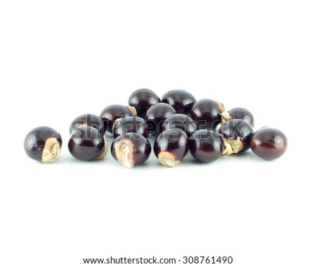 Longan seed. fresh longan isolated on white background