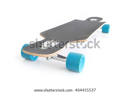 Longboard isolated on white.