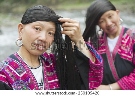Longest Hair In The World Stock Images Royalty Free