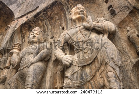 longmen grottoes hunan province china