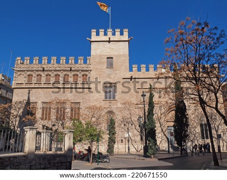 Lonja de la Seda in Valencia, Spain. - stock photo