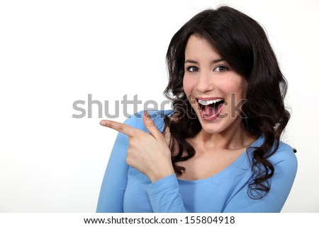 Look at that!!! - stock photo