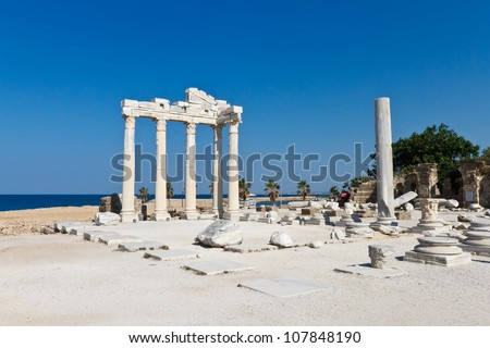 look at the overall temple of Apollo