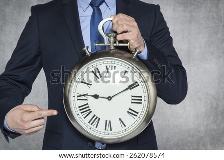 look what time - stock photo