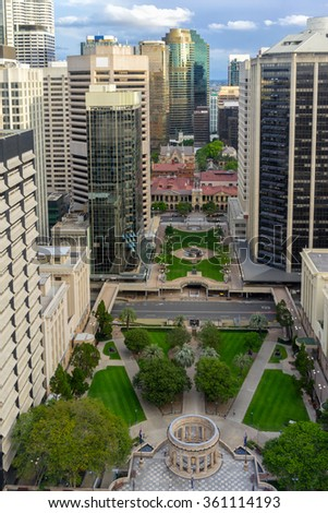 Looking across Brisbane's Anzac Square