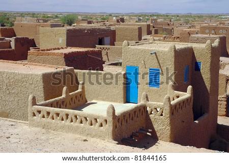 Looking across the Agadez skyline in Niger - stock photo