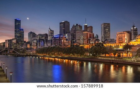 Looking across the Yarra River in Melbourne from Southbank