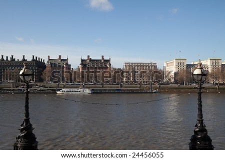 Looking across to the north side of the River Thames in London