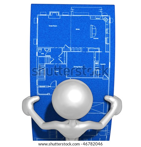 Looking At Home Construction Blueprints
