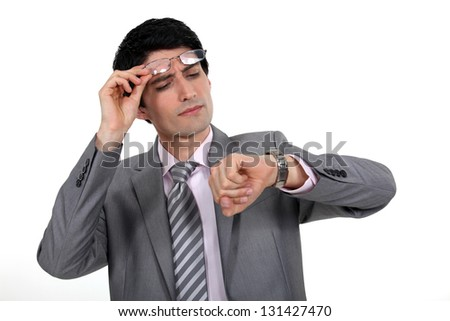 Looking at the Executive - stock photo