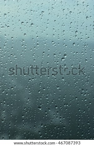 Looking beautiful rain drops out side the window abstract art background