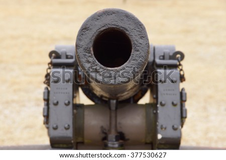 Looking down the barrel of a civil war cannon