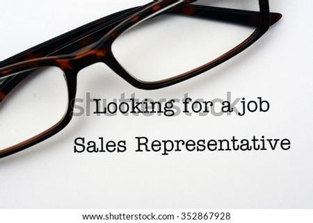 Looking for a job Sales Representative - stock photo