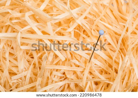 looking for the needle  plug needle in the haystack looking for as symbolic - stock photo