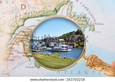 Looking in on the Montague, Prince Edward Island, Canada - stock photo