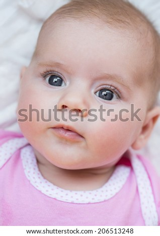 looking newborn baby - the first two month of the new life