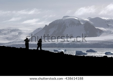 Looking over the Antarctic