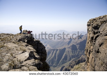 Looking over the Edge - stock photo