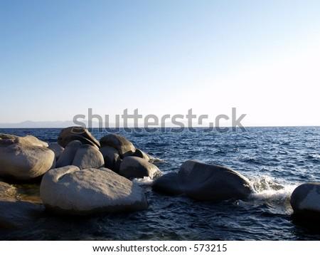 Lookout at Memorial Point - Lake Tahoe - Lake Tahoe State Park, NV - stock photo