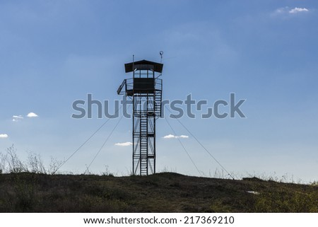 Lookout Tower in Montemor, Portugal - stock photo
