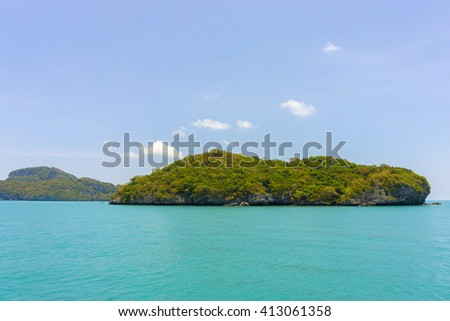 looks islands and beautiful sea in Thailand - stock photo
