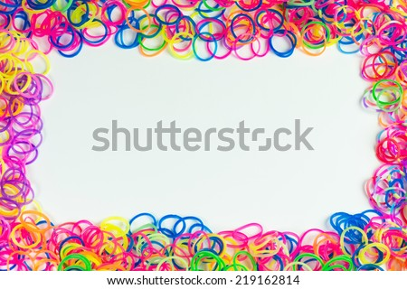 Loom rubber bands frame - stock photo