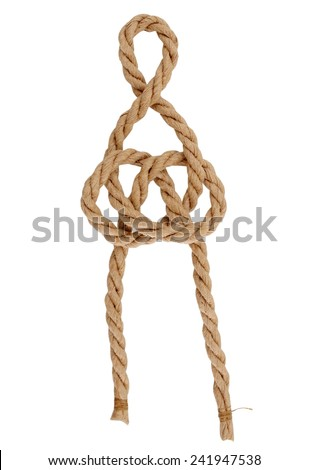 Loop knot isolated on white