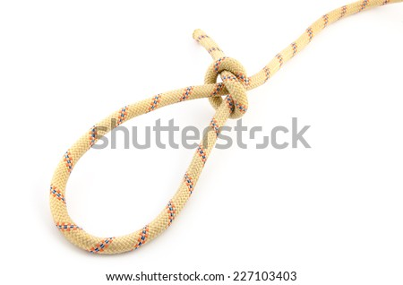 loop knot isolated on white background