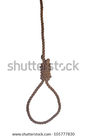 loop of gallows on white background - stock photo