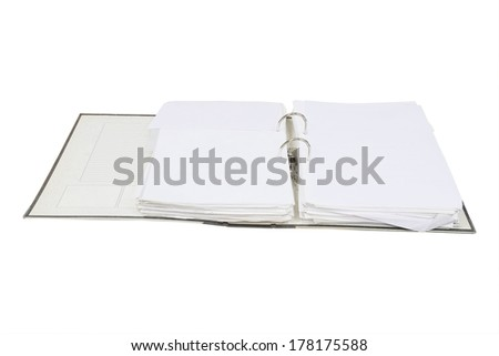 loose-leaf binder isolated under the white background