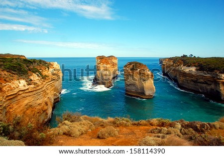 Lorch Ard Gorge, Great Ocean Road, Australia. - stock photo