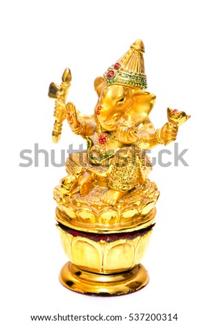 Lord Ganesha White background.