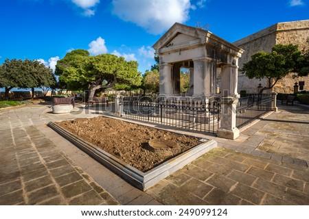 Lord Hastings Monument in Valletta, Malta - stock photo