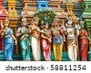 Lord Murugan Marriage Statue In vadapalani murugan temple, Chennai, India - stock photo