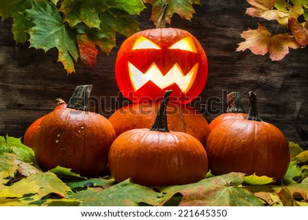 Lord of the pumpkins - stock photo